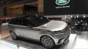 Range Rover Velar front three quarter at the Geneva Motor Show