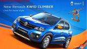 Renault Kwid Climber front quarter brochure scan leak
