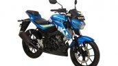 Suzuki GSX-S150 blue front three quarter