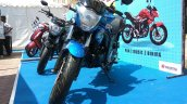 Suzuki Gixxer day in Mumbai front three quarter left