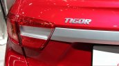 Tata Tigor badge at the 2017 Geneva Motor Show