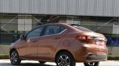 Tata Tigor petrol rear three quarter low First Drive Review