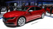 VW Arteon front three quarter at the 2017 Geneva Motor Show Live