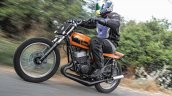 Yamaha RD350 Sun Chaser by JC Moto motion front three quarter