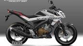 Yamaha V-Ixion rendering graphics black