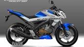 Yamaha V-Ixion rendering graphics blue