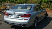 2017 BMW 7 Series M-Sport (730 Ld) rear quarter Review