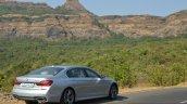 2017 BMW 7 Series M-Sport (730 Ld) rear three quarter far Review