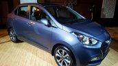 2017 Hyundai Xcent India launch front three quarter left