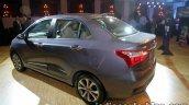 2017 Hyundai Xcent India launch rear three quarter left