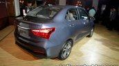 2017 Hyundai Xcent India launch rear three quarter right
