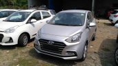 2017 Hyundai Xcent SX (facelift) front quarter snapped at a stockyard
