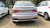 2017 Hyundai Xcent SX (facelift) rear snapped at a stockyard