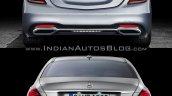 2017 Mercedes S-Class vs. 2013 Mercedes S-Class rear