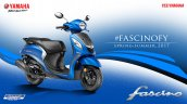 2017 Yamaha Fascino studio blue dual tone front three quarter