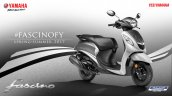 2017 Yamaha Fascino studio grey dual tone front three quarter