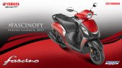 2017 Yamaha Fascino studio red dual tone front three quarter