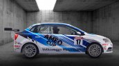 205 PS VW Ameo Cup race car side revealed