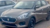 Exterior of the 2017 Maruti Swift Dzire (3rd gen) front quarter leaked