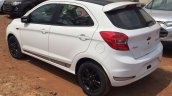 Ford Figo S rear three quarter spied at a dealership