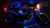 Hero Karizma cafe racer by Bullard Customs side view with lights