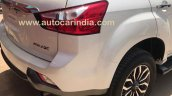 Isuzu MU-X rear end spied undisguised in India