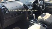 Isuzu MU-X spied interior undisguised in India