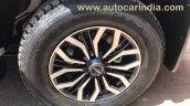 Isuzu MU-X wheel spied undisguised in India