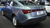 MG5 sedan rear three quarters left side at 2017 Bangkok International Motor Show