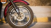 Maruti 800 Trailblazer custom motorcycle frotn wheel