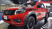 Nissan Navara Black Edition fron three quarters left side at 2017 Bangkok International Motor Show