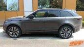 Range Rover Velar profile spy shot