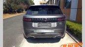Range Rover Velar rear spy shot
