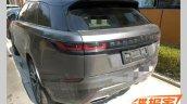 Range Rover Velar rear three quarters spy shot