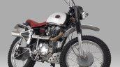 Royal Enfield Bullet 350 Moltar Scrambler by Thrive Motorcycle front three quarter