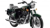 Royal Enfield Bullet 500 Forest Grey front three quarter studio