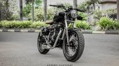 Royal Enfield Classic 350 Brat Bobber by Grid 7 Customs front three quarter