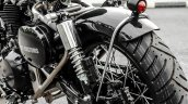 Royal Enfield Classic 350 Brat Bobber by Grid 7 Customs rear suspension