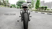 Royal Enfield Classic 350 Brat Bobber by Grid 7 Customs rear
