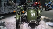 Royal Enfield Classic 500 Forest Green sidecar at BIMS 2017front