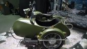 Royal Enfield Classic 500 sidecar Forest Green side at BIMS 2017