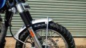 Royal Enfield Classic Maverick Scrambler by Dochaki front wheel right