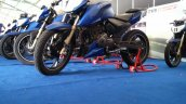 TVS Apache RTR 200 track experience at MMRT front three quarter