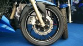 TVS Apache RTR 200 track experience at MMRT front wheel right