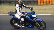 TVS Apache RTR 200 track experience at MMRT lean