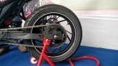 TVS Apache RTR 200 track experience at MMRT rear tyre right