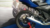 TVS Apache RTR 200 track experience at MMRT tail section