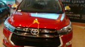 Toyota Innova Crysta Touring Sport front on dealer display