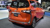 Toyota Sienta rear three quarters at 2017 Bangkok International Motor Show