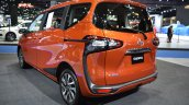Toyota Sienta rear three quarters left side at 2017 Bangkok International Motor Show